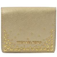 MICHAEL KORS GIFTABLES 鉚釘扣式零錢短夾.金
