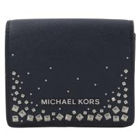 MICHAEL KORS GIFTABLES 鉚釘扣式零錢短夾.海軍藍