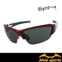 MOLA摩拉運動太陽眼鏡 UV400 男女 防刮 灰色 自行車 跑步 高爾夫 棒球 Hero-rg