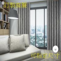 宜欣居傢飾-訂製窗簾-W300cm x H210cm以內-萊茵河畔 雙面緹花遮光窗簾(米/咖)