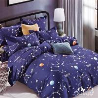 BUTTERFLY-台製柔絲絨加大雙人薄式床包枕套三件式-星座物語