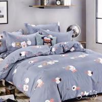 BUTTERFLY-台製柔絲絨標準雙人薄式床包枕套三件式-幸福豬豬