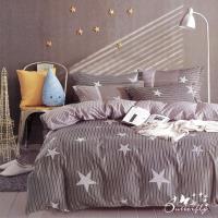 BUTTERFLY-台製柔絲絨標準雙人薄式床包枕套三件式-幸福時光
