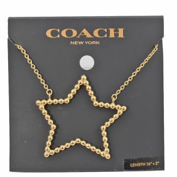 COACH 37962 超大金珠星星造型時尚項鍊