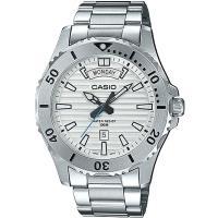 CASIO 城市獵人銀光大刻度都會不鏽鋼男錶-白(MTD-1087D-7A)