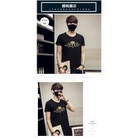 【JimmyWang】黑色短袖T恤 -金色皇冠