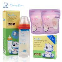 【韓國 Snowbear】雪花熊感溫拋棄式奶瓶+奶瓶袋75枚+奶粉袋60枚(量販組 外出泡奶不在手忙腳亂)