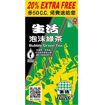 生活 泡沫綠茶300ml(24入)