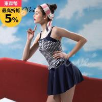 沙麗品牌 時尚流行大女連身裙泳裝 NO.19125