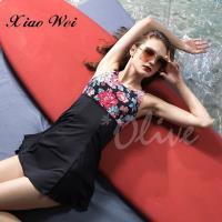 沙麗品牌 時尚加大款兩件式連身裙泳裝 NO.H19132A
