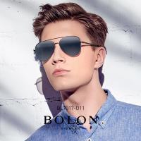 【BOLON 暴龍】知名大牌時尚流行男仕女仕墨鏡太陽眼鏡(經典雷朋飛行框BL7017-偏光D系列)