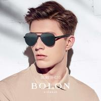 【BOLON 暴龍】知名大牌時尚流行男仕女仕墨鏡太陽眼鏡(經典粗膠框雷朋飛行框BL8018-偏光系列)
