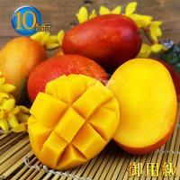 預購-風之果 枋山御用級濃甜40年老欉愛文芒果禮盒10台斤(15-17顆入)400g-350g