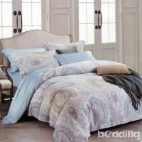 BEDDING-100%天絲萊賽爾-特大6x7薄床包兩用被套四件組-藍雀