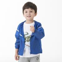 【聖伯納 St.Bonalt】男童連帽皮膚風衣 (19005)- 藍色/淺藍/多彩魚類
