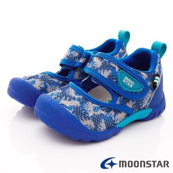 MOONSTAR-日本月星頂級童鞋 2E速乾款 MSC22265藍(寶寶段)