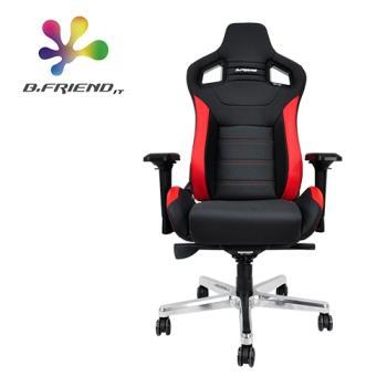 【B.Friend】GC07 尊爵款專業電競椅/賽車椅 含人體工學靠背(黑紅)
