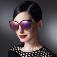 【BOLON 暴龍】大牌巨星時尚流行男仕女仕墨鏡太陽眼鏡(安海瑟薇AnneHathaway同款貓眼大矩圓框BL5002偏光款)