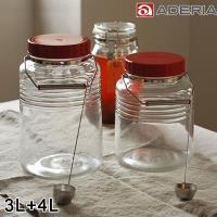 ADERIA 日本進口復刻玻璃梅酒瓶2入組 (3L+4L)