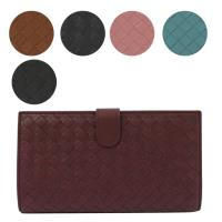 BOTTEGA VENETA 132357 編織皮革扣式中夾.多色可選