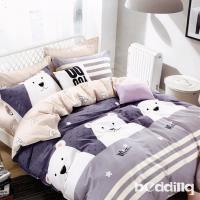 BEDDING-100%棉6尺加大雙人薄式床包涼被四件組-奇爾蘭