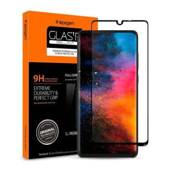 SGP / Spigen HUAWEI P30 Glass FC HD Black-玻璃保護貼