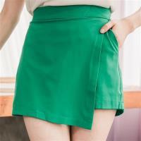 大尺碼-前接片類短裙短褲(共三色)lingling