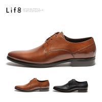 Life8-Formal 牛皮 尊爵義式工藝紳士皮鞋-咖色/深藍色-09916