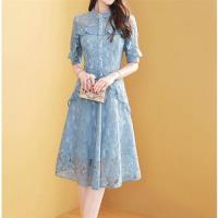 【M2M】高雅貴氣蕾絲緹花洋裝S-2XL
