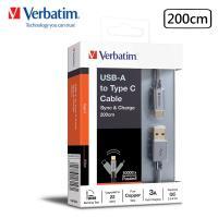 Verbatim 威寶 USB-A to Type C 3A 200cm 彈性護套編織 充電傳輸線