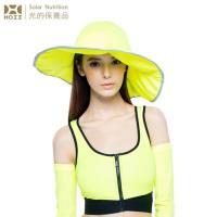 【HOII后益】HOII后益 荷葉邊花瓣帽-大 ★黃光(UPF50+抗UV防曬涼感先進光學機能布)