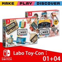 【Nintendo 任天堂】Switch 實驗室Labo Toy-Con01 VARIETY KIT綜合+04 VR 組合套裝(日版)支援中文