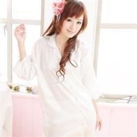 lingling日系 襯衫式絲緞連身睡衣(六色, 全尺碼)