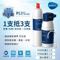 德國 BRITA mypure P1硬水軟化櫥下型濾水系統 P3000濾芯(此 P1000芯與P3000芯)