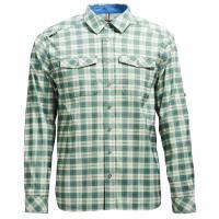 【Wildland 荒野】男彈性抗UV格子長袖襯衫共2色