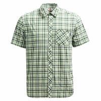【Wildland 荒野】男彈性抗UV格子短袖襯衫共2色