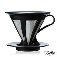 【TCoffee】HARIO-V60免濾紙黑色濾杯(約1~4杯份)