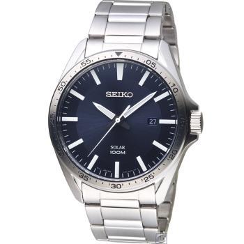 SEIKO 時空攔截太陽能腕錶(SNE483P1)43mm V157-0CP0B