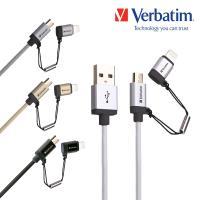 【Verbatim 威寶】micro usb + lightning 充電傳輸線_1.2M