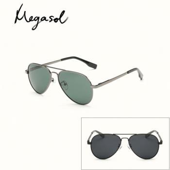 【MEGASOL】中性兒童男孩女孩UV400抗紫外線偏光兒童太陽眼鏡(雷朋款KD3025L-四色可選)