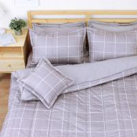 艾莉絲-貝倫 和日方常(3.5x6.2呎)五件式單人(100%純棉)鋪棉床罩組-灰棕色