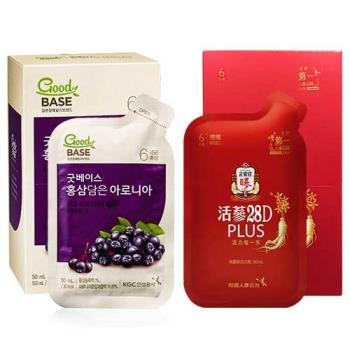 【正官庄】活蔘28D PLUS5入+高麗蔘野櫻莓飲10入