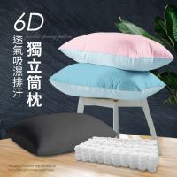 CERES 粉彩繽紛系列 6D立體透氣排汗獨立筒枕/三色任選