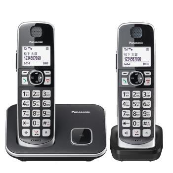 【買就贈史努比大湯杯】Panasonic 國際牌 DECT 中文數位大字鍵無線電話 雙支組  KX-TGE612 TWB