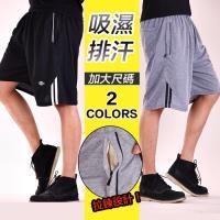 加大尺碼 24-44腰 棉質 吸濕排汗 伸縮腰圍 運動褲 慢跑褲 短褲-黑