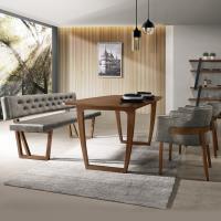 Bernice-雷克5.3尺餐桌椅組合(一桌二椅一長凳)
