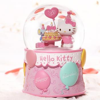 讚爾藝術 JARLL~Hello Kitty 生日 水晶球/音樂盒(KT1821) 生日送禮 (現貨+預購)