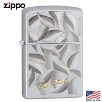 美系Zippo 落葉-雙色調緞面鍍鉻防風打火機#29908