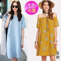 獨家搶購↘歐風KEITH-Will 短袖休閒洋裝(5款可選)- 預購