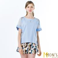 MONS簡約時尚風棉麻上衣